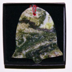 connemara marble bell christmas ornament