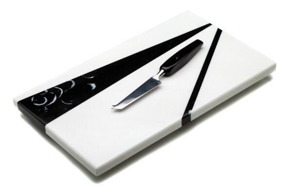 MARMAR NERO CHEESE BOARD & KNIFE SET