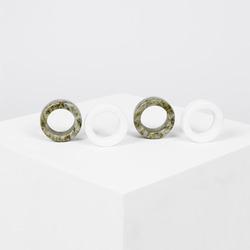 Irish green connemara marble napkin rings